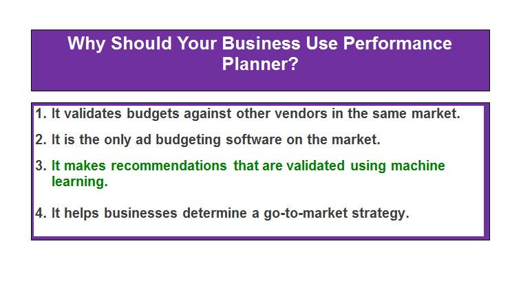Why Should Your Business Use Performance Planner?