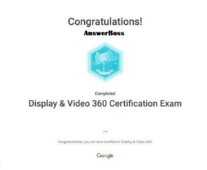 Display and Video 360 Certification